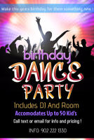 Kids Birthday Dance Parties ! Includes DJ and Room 249 Taxes Inc