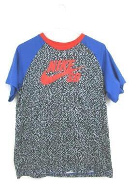 Nike Skateboarding Dri-Fit T-Shirt Red Black Blue Polyester Blend Youth Size XL