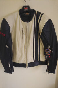 Mens size Large Power-Trip Leather Motorcycle Jacket