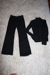Capezio dance pants (L) and zippered, long sleeved shirt (S) Kitchener / Waterloo Kitchener Area image 1