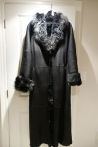 LADIES MODERN LUXURIOUS DANIER SHEARLING COAT