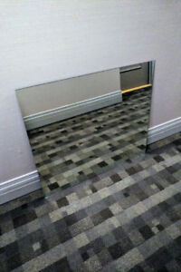 Bevelled Mirror, 32.5 x 38 inches