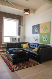 NY style lofts in downtown heritage building!