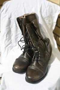 Old fashioned granny-style boots