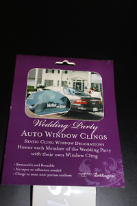 Wedding Party Window Clings