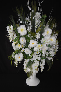 Professionally made silk floral arrangements