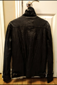 David Button Buffalo leather jacket.Black.Mens.Brand new.S MM.