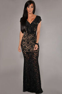 Lace Wedding Evening Cocktail Party Lace dress med large XL