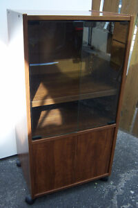 Nice Display Cabinet  on Casters .