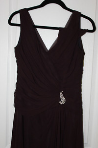 Purple Long Gown with scarf - Mother of the bride/Groom size 6