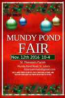 Mundy Pond Fall Fair November 12th St. Theresa's Parish Hall