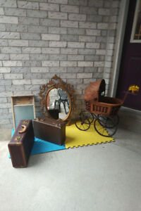 2 Suitcases+ Antique Washboard *SEE EACH PRICE