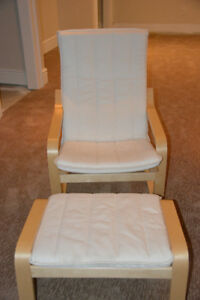 IKEA POANG ROCKING CHAIR & MATCHING OTTOMAN