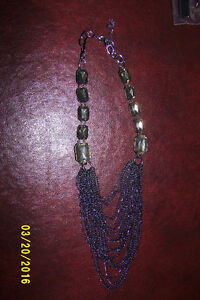 Necklace with small chains hanging