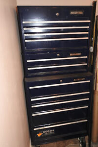 Mastercraft 3 piece tool chest-Midnight Blue with 600lb casters
