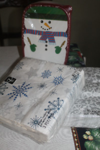 XMAS ITEMS.... napkins storage containers