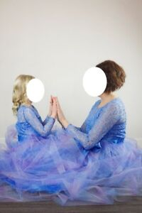Mommy and Me matching mother daughter dresses photo shoot