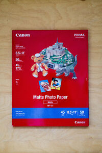 Canon 8.5*11 photo paper, 50 sheets, never opened