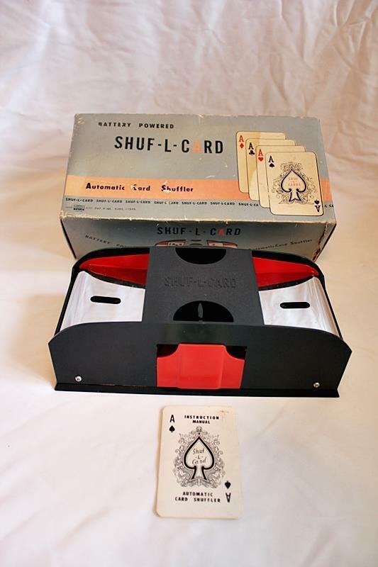 Vintage Waco Battery Powered Shuf-L-Card Automatic Card Shuffler - Japan WORKS!