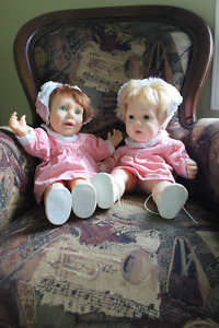 """Pair of Vintage Turner Hasbro dolls 1984 and 1985 """"real baby"""""""