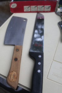 Japanese Laser Knife (stainless) & A Cleaver