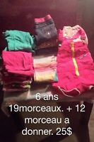 Lot vêtements 6 ans