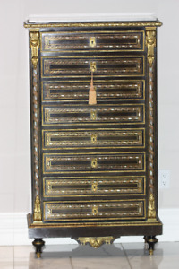 1860 French designer one of a kind secretary cabinet
