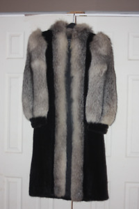 Mink and Silver Fox full length Coat
