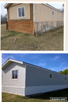 Re leveling of mobile homes