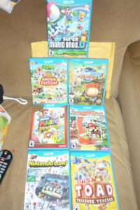 Nintendo Wii U With Box And Games