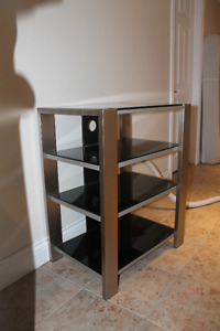 TV stand glas and metal