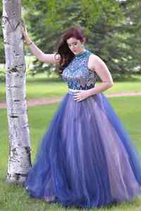 Grad/Prom Dress. 2 piece *matching earrings available*