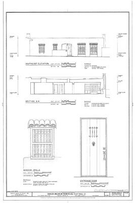 Southwestern style patio home, sizeable 2 bedrooms, architectural blueprints
