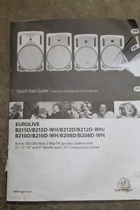 EUROLIVE B212D Speaker with stand for Sale