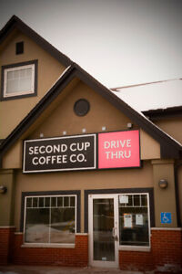 Fully Renovated Second Cup Cafe For Sale / With Drive-Thru
