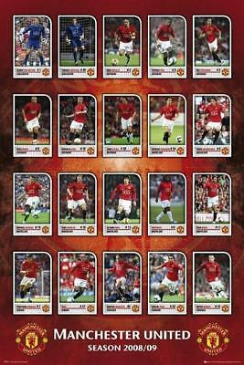 Manchester Utd Squad Profiles 2008/09 - Maxi Poster 61cm x 91.5cm new and sealed