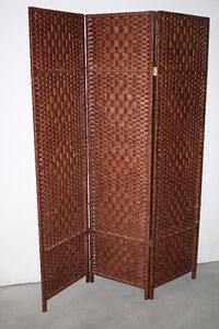Tiplant Diamond Weave 3 Panel Room Divider