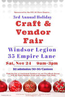 ICE 3rd Annual Holiday Craft and Vendor Fair