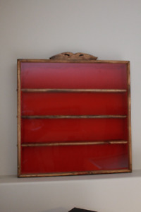 Hand crafted wooden curio cabinet for sale