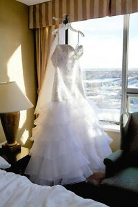 White Maggie Sottero Couture Wedding Gown- Size 14