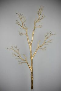 "35"" Gold Manzanita Branch/Branch decorations/ Twigs/Gold branch"