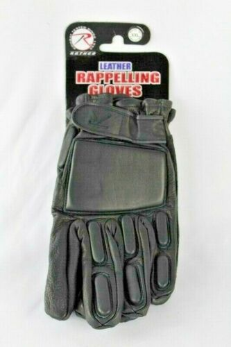Rothco Rappelling Gloves Black Padded Knuckles Insulated New Size 2XL