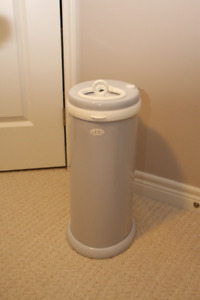 Ubbi diaper pail, grey