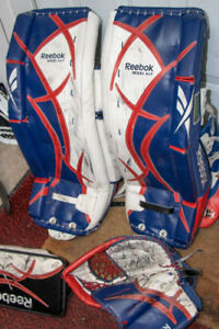 "Reebok 29""+1 Goalie Pads, blocker and Glove (kids of age 11-14)"