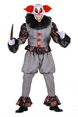 Gruseliger Horror Clown Kostüm Zombie Böser Killer Monster Mörder Maske Grusel