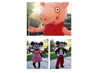 **FOR HIRE: PEPPA PIG, MICKEY MOUSE & MINNIE MOUSE MASCOT COSTUMES***