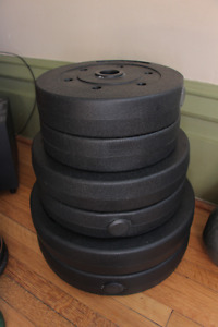 280lbs of Barbell Weights +2 BARS