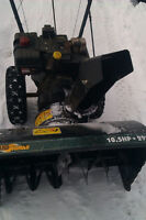"MTD 10.5 hp 29"" snowblower"