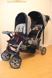Baby Trend Sit'N Stand Double Stroller.