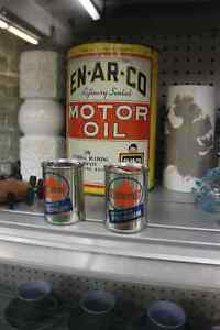 Supertest & Enarco Oil Cans! Advertising!